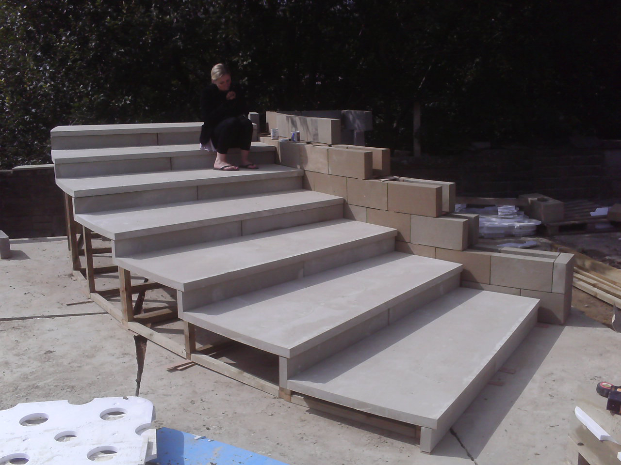 Curved Step Mock-up pre-Construction