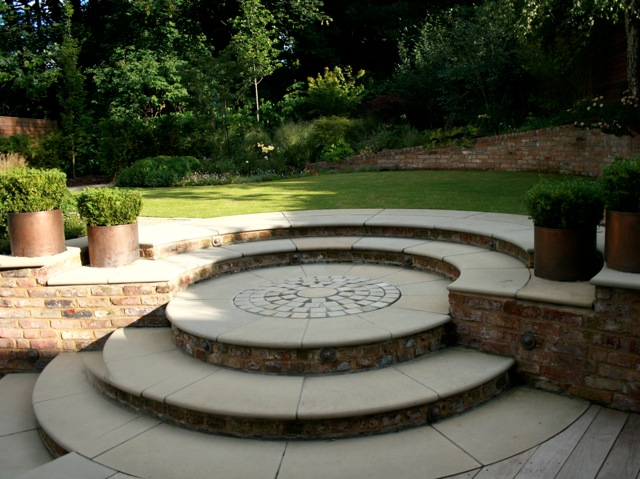 Yorkstone Circular Step Feature