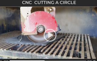 CNC Machining a circle from Yorkstone