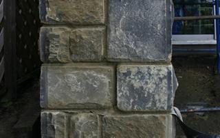 Tumbled Walling Stone Pillar