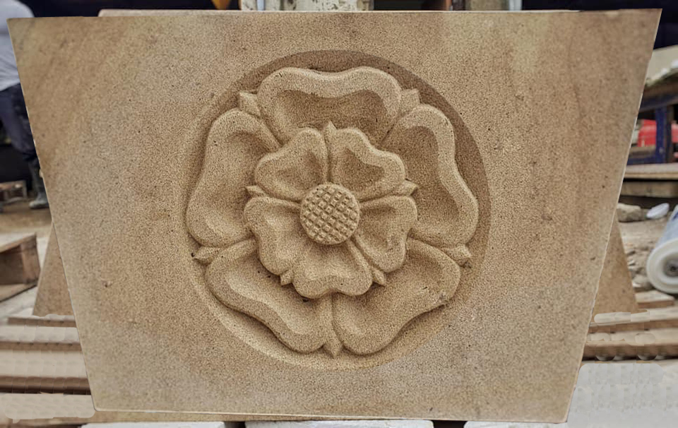 Carved Yorkshire Rose