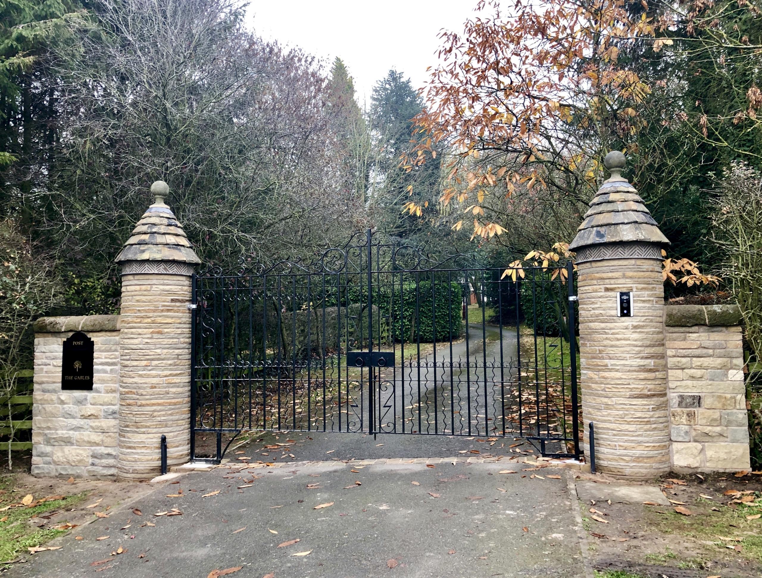 Unique gate posts!